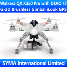 Walkera QR X350 Pro FPV Quadcopter  Drone With DEVO F7 G-2D Brushless Gimbal iLook GPS RC Quadricopter Quad Copter UFO AR.Drone цена 2017