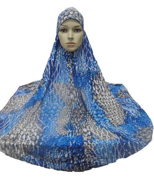 ผู้หญิงมุสลิมสวดมนต์ขนาดใหญ่ Hijab Amira Khimar Headwear อาหรับ Overhead เสื้อผ้าสวดมนต์การ์เม้นท์หมวก Hijabs นินจาอิสลามใหม่