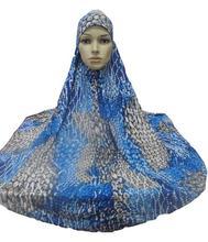 מוסלמי תפילת נשים גדול חיג אב עמירה Khimar בארה ב ערבי תקורה בגדי תפילת בגד כובע Hijabs Ninja אסלאמי טורבן חדש
