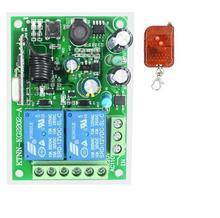 433 мГц 220 В Универсальный Беспроводной удаленного Управление переключатель AC 250 В 110 V 220 V 2CH релейный ресивер модуль Управление прибор двери гаража