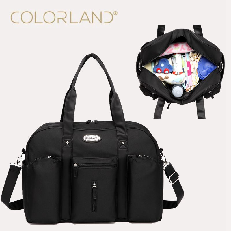 Colorland Baby Diaper Bag Organizer Fashion Mummy Maternity Bag Daddy Messenger Changing Nappy Bags Mom Mother Diaper Handbag 2017 new baby diaper bag for mom fashion mother maternity bag nappy bags sets mummy baby bag 3 colors