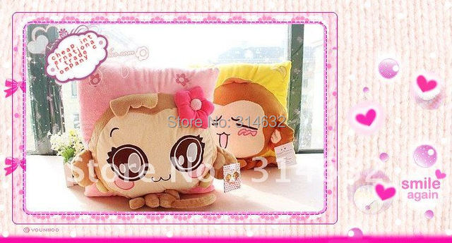 Hot sale Fashion cartoon pillow You laugh monkey love couple three-dimensional cushion plush toy cushion  waist pillow 38*38cm
