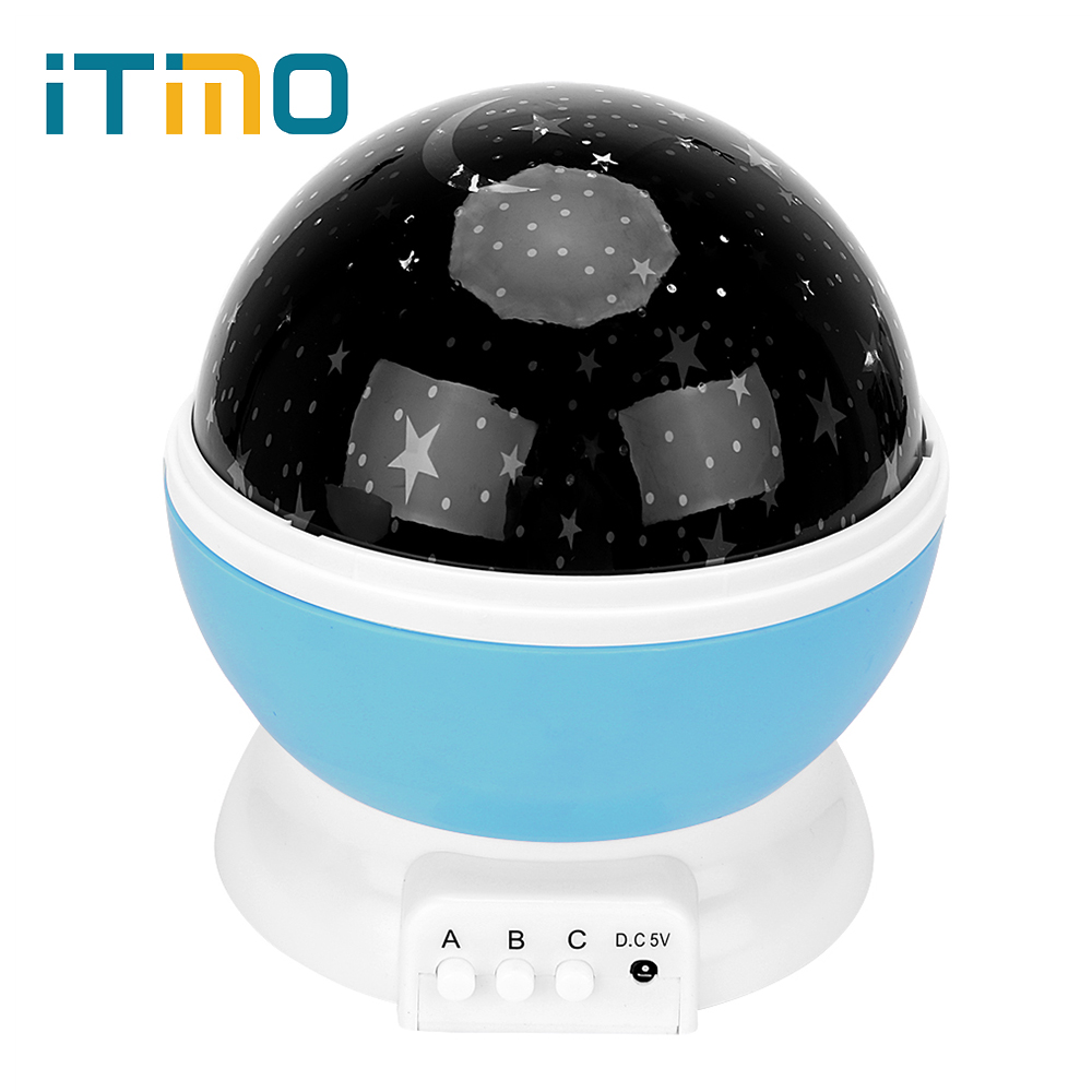 где купить ITimo LED Room Novelty Night Light Projector Children Baby Sleep Lighting Star Moon Sky Light High Quality Dream Rotation Lamp по лучшей цене