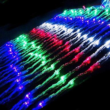 2 м x 2 м AC110/220 В светодиодный Водопад строка свет, рождество огни украшение праздника Открытый Бесплатная доставка