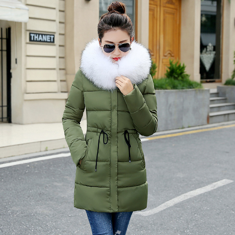 2018 veste d hiver femmes mode mince longue en coton veste matelassée À  Capuche parka femme veste ouatée vêtements d hiver manteau femmes dans  Parkas de ... 7a8b1a68aeb9