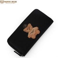 داني bear نساء محافظ ماركة تصميم عالية الجودة والجلود محفظة الإناث الأزياء سعر الدولار طويل المحفظة بطاقة محفظة