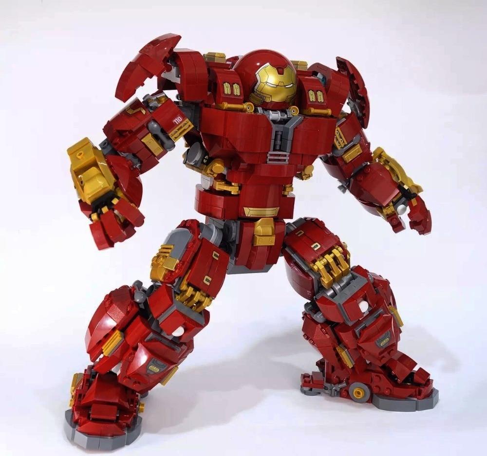 1527pcs New Legoing Super Heroes Series Marvel Movie Avengers Hulk Buster Model Building Block Bricks Toys
