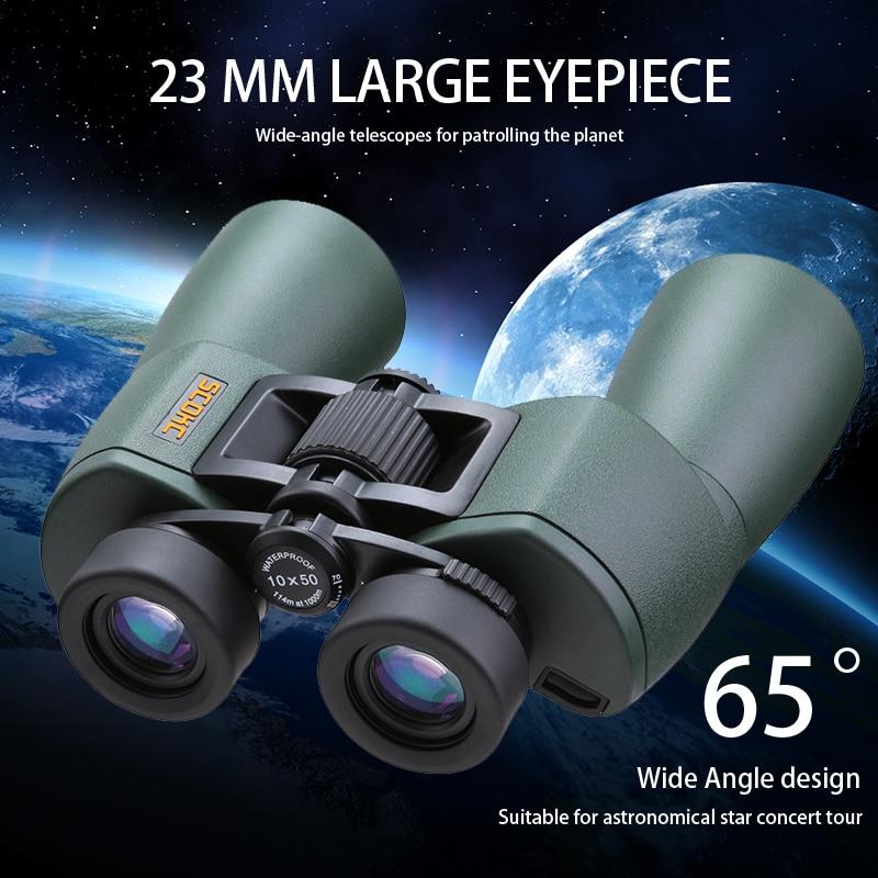 SCOKC Gran Angular Potente hd 10x50 binoculares bak4 FMC power zoom - Camping y senderismo - foto 2