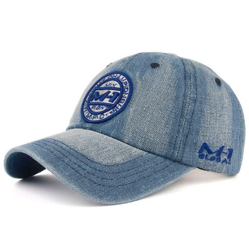 Unisex Women Men Washable Denim   Baseball     Cap   Embroidery Letters Patch Vintage Trucker Hat Sun Hat