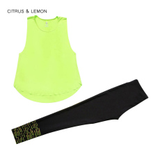 CITRUS&LEMON Women's tracksuits two piece set sport yoga suit women Outdoor running suits fitness tank top trousers quick dry