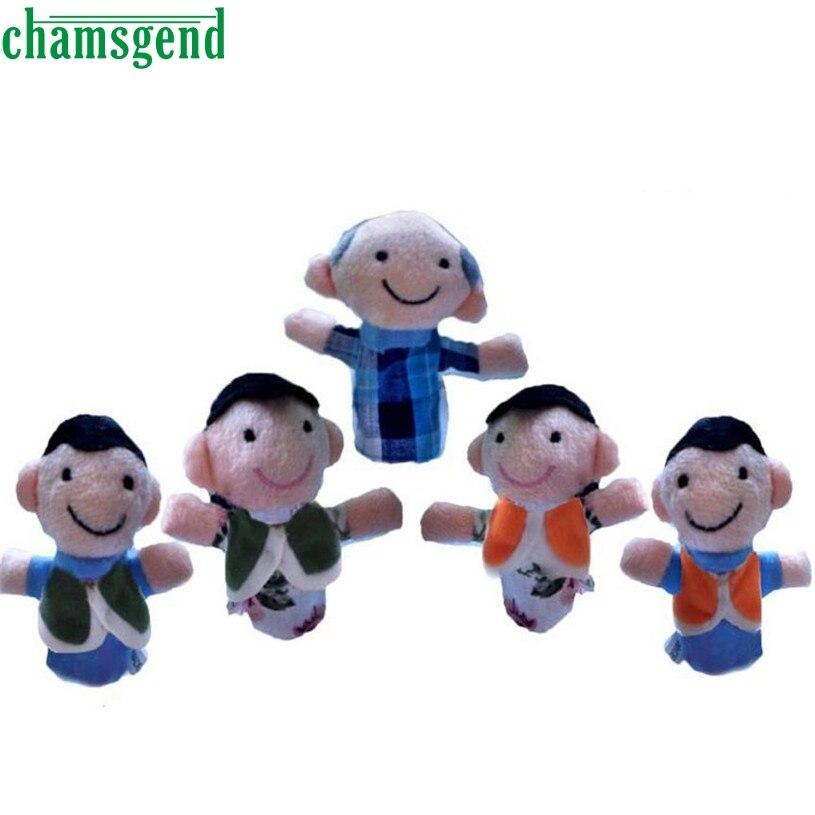 5 Pcs Finger Even Storytelling Good Toys Hand Puppet For