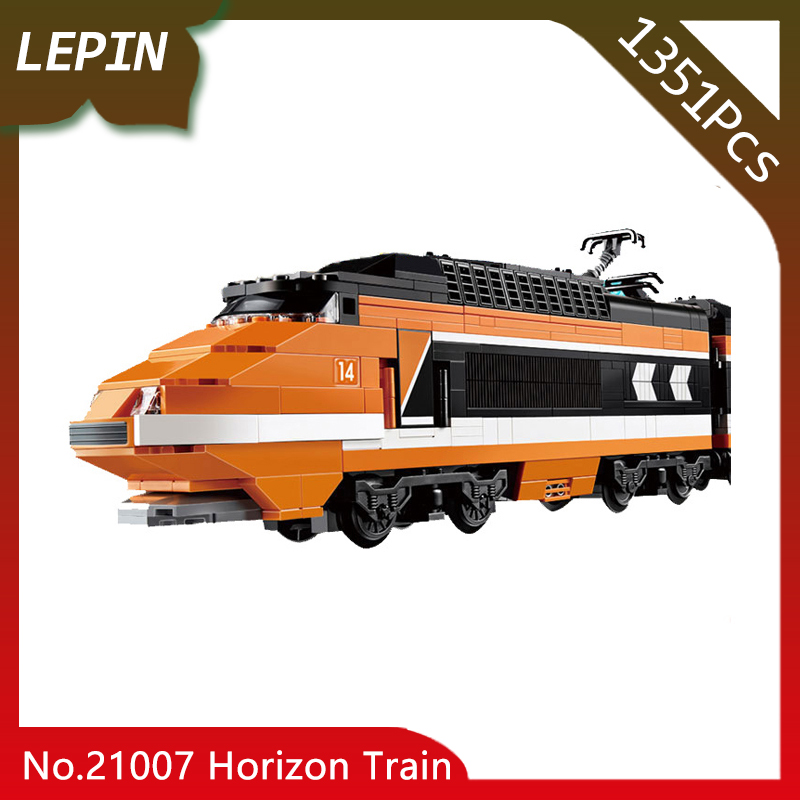 Lepin 21007 The Horizon Express Model Technic Creator Horizon Train Series 1351pcs Building Blocks Bricks Educaitonal fun Toy a toy a dream lepin 15008 2462pcs city street creator green grocer model building kits blocks bricks compatible 10185