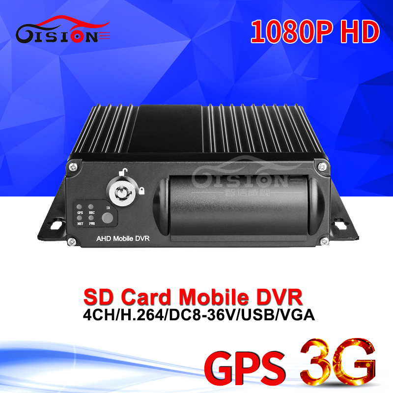 4CH Video/Audio Input 3G Real Time Video GPS Tracker 1080P HD Car Mobile Dvr Software Free CMSV6 Dual SD Vehicle Mdvr Free Ship