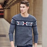 Pioneer 캠프 새로운 도착 브랜드 스웨터 남성 최고 품질 패션 남성