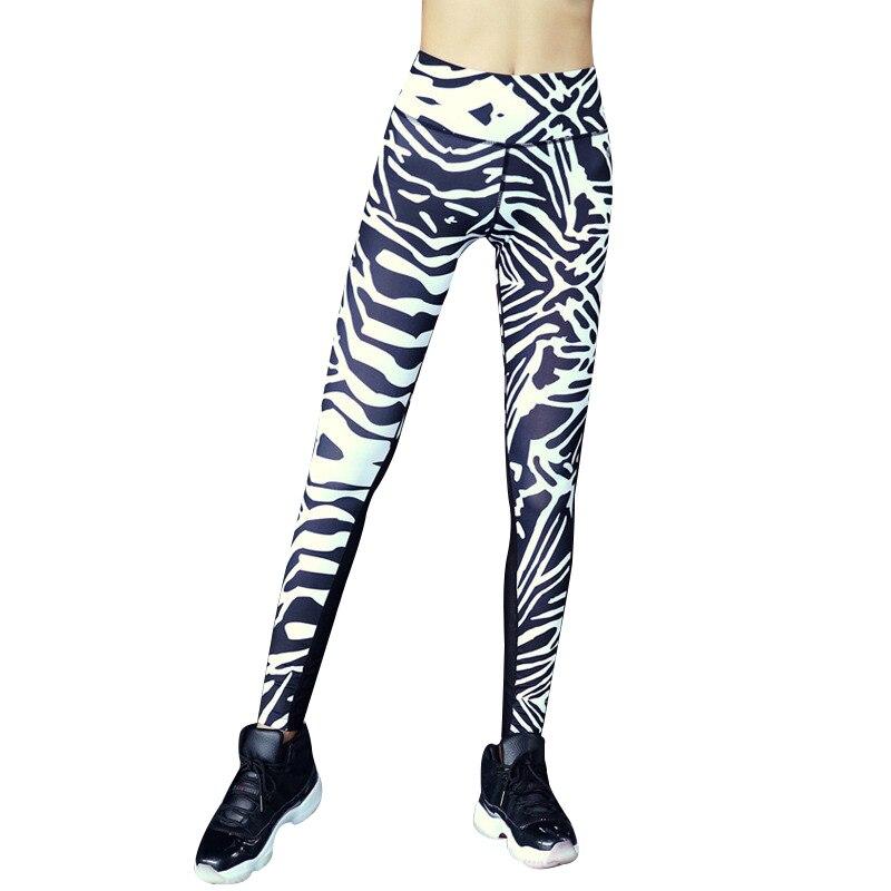 Women Sexy Zebra Mesh Yoga Pants Dry Fit Sport Pants Fitness Gym Pants Workout Running Tight Sport Leggings Female Trousers