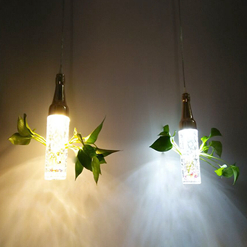 Modern Bubble Crystal Bottle Pendant Lights Bar Lamp