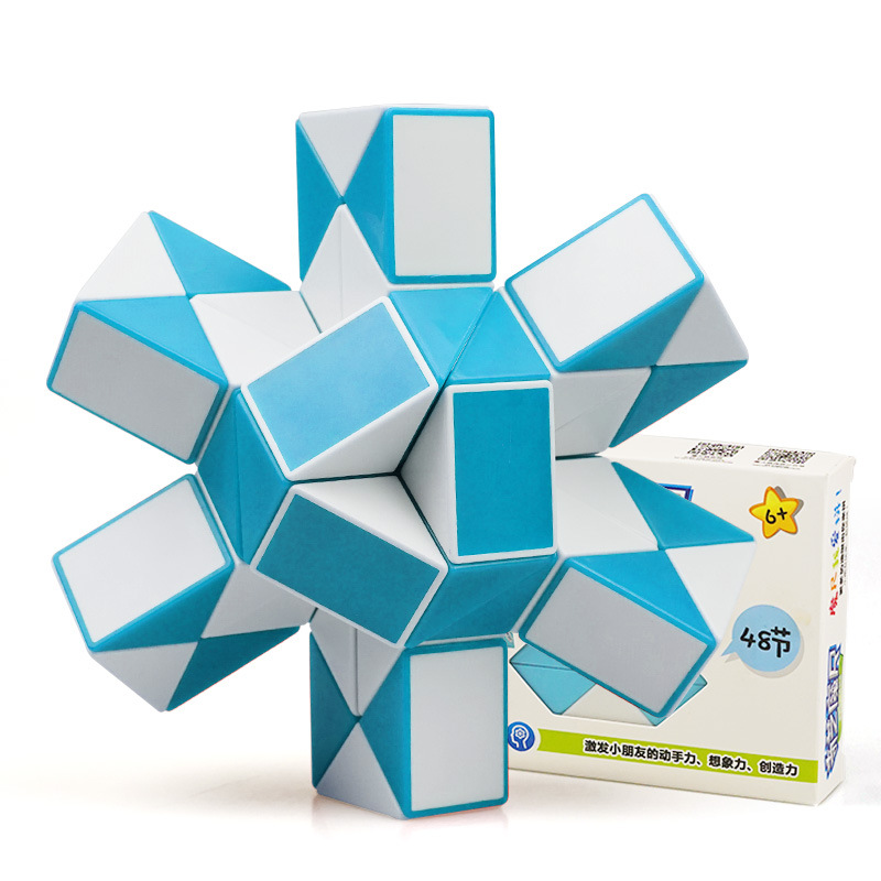 QIYI 48 Segments Magic Rule Snake Cube Elasticity Elastic Changed Popular Twist Transformable Kid Puzzle Toy For Children