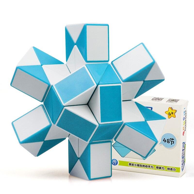 QIYI 48 Segments Magic Rule Snake Fidge Cube Elasticity Elastic Changed Popular Twist Transformable Kid Puzzle Toy For Children