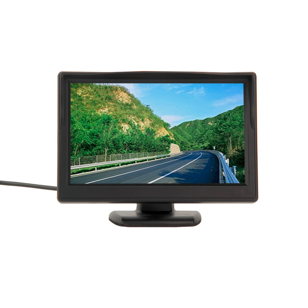 480 nuevo HD 272*2017 Monitor LCD TFT para coche 5 pulgadas monitor de coche pantalla electrónica 2ch Video con equipo de cámaras retrovisores de coche caliente