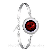 Fashion Anime Rinnegan Ogen Armband Naruto Sharingan Eye Verzilverd Armband Uchiha Uzumaki Clan Logo Cosplay Gift(China)