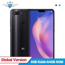 Küresel Sürüm Xiao mi mi 8 Lite 4 GB 64 GB cep TELEFONU 6.26 ''tam ekran Snapdragon 660 24MP ön Kamera Çift Kamera mi UI 10