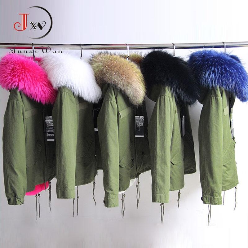 Women's Winter Jacket 2016 Raccoon Fur Collar Women Winter Army Green Coats Thick Parkas Plus Size Hooded Outwear manteau femme