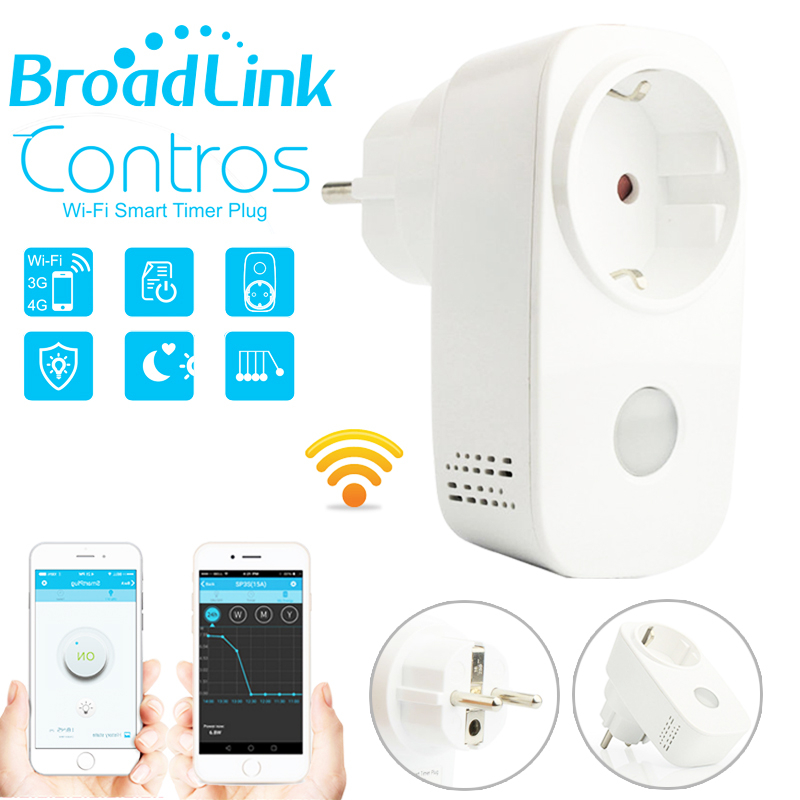 Broadlink SP3 SP3S Power Meter Monitor,16A wifi plug outlet,Smart home domotica,APP wireless Control for iphone Ipad IOS Android цена