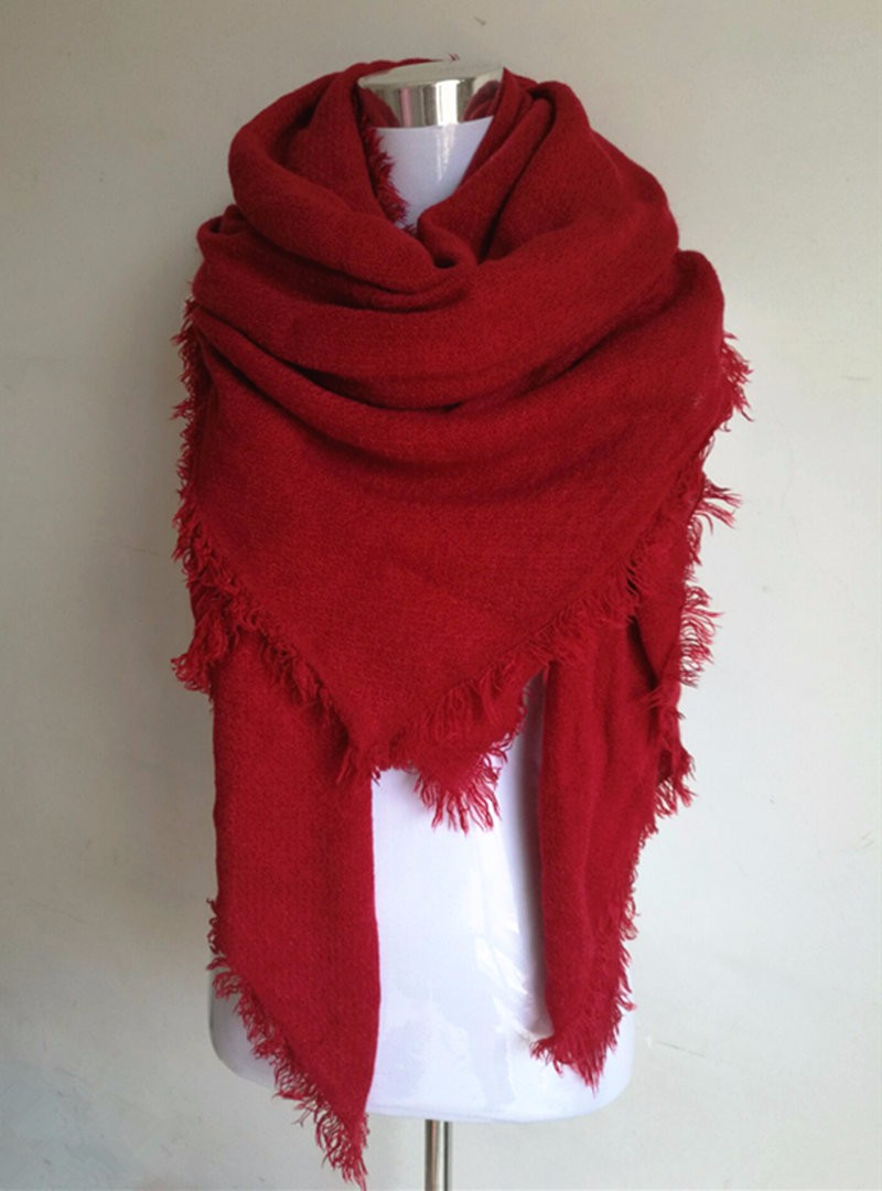 Fray Edge Solid Blanket Scarf | Blanket Scarves | Upto 60% Off Now