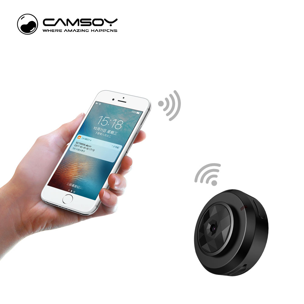 Camsoy Cookycam C6 Micro WI-FI Mini Câmera HD 720 P Com C1 Aplicativo de Smartphone E Night Vision IP Home Security video Cam Filmadora