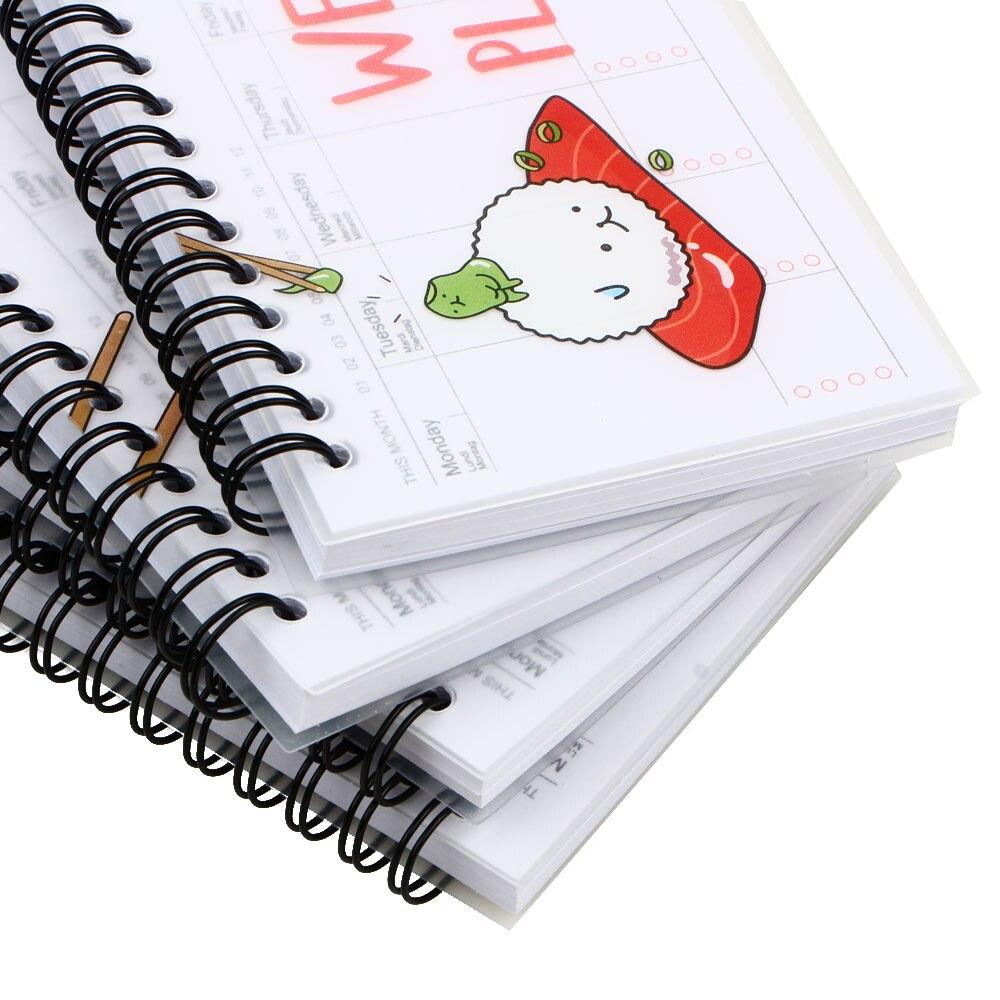 kawaii week plan memo book 80 sheet weekly daily planner Sushi notebook agenda organizer Stationery School supplies in Notebooks from Office School Supplies