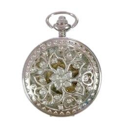 20 шт оптом мужские женские механические карманные FOB часы с цепочкой бесплатная доставка Ручная Ветер Скелет китайский узел Мода