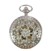 20 шт оптом мужские женские механические карманные FOB часы с цепочкой бесплатная доставка ручной Ветер Скелет китайский узел Мода