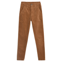 Solid color corduroy trousers high waist stretch pencil pants feet casual pants spring and autumn ladies new slim trousers TB917