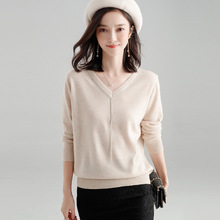 Female loose autumn women sweater 2018 new stylish knitted shirt blouse thin for X8016