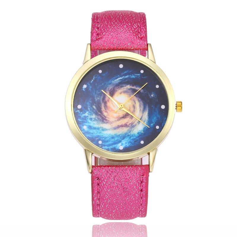 FUNIQUE Original Host Wind Universe Star Women Watch Shining Leather Quartz Hours Women Wrist Watch Bracelet For Dropshiping