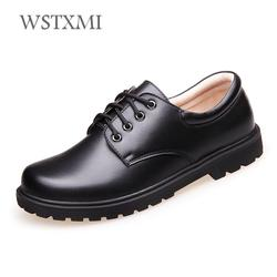 Boys School Leather Shoes for Kids Genuine Leather Wedding Shoes Children Oxford Dress Designer Black Rubber Sole Pigskin Inside