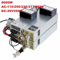 8000W 30V 266A 0 30V power supply 30V 266A AC DC High Power PSU 0 5V analog signal control DC30V 266A 110V 200V 220V 277VAC