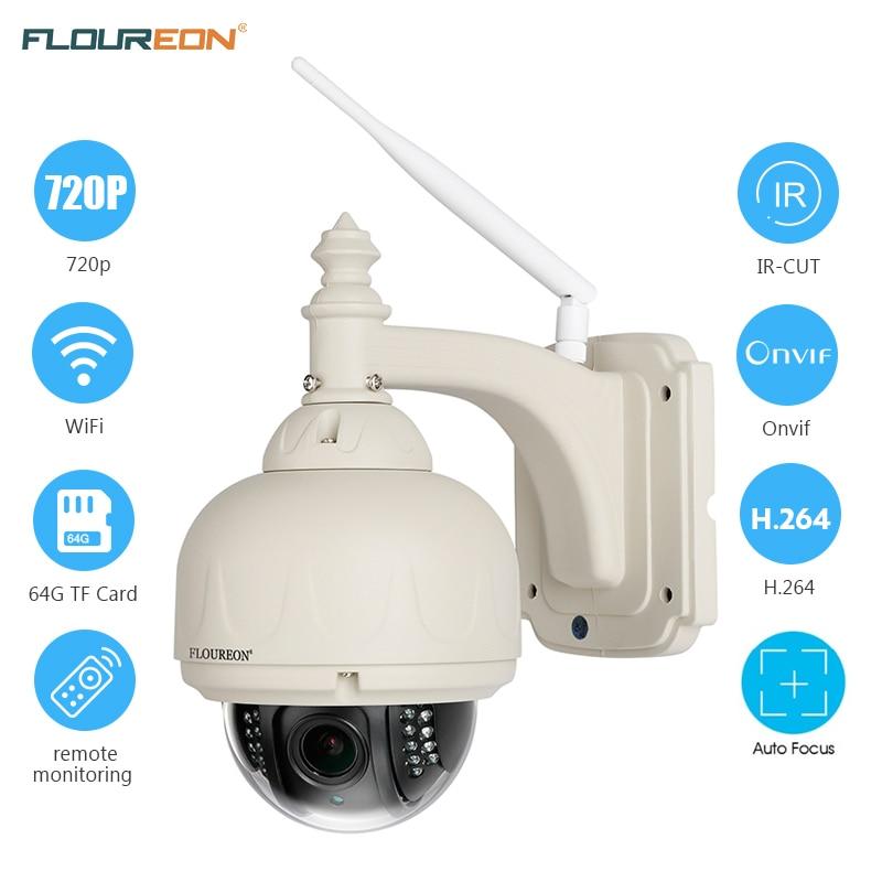 imágenes para FLOUREON 720 P 4 3XZOOM PTZ H.264 Cámara IP Inalámbrica de Infrarrojos CCTV cámaras de seguridad de Visión Nocturna de la Ayuda 64G SD wifi Tarjeta TF cámara
