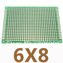 5pcs/lot 6x8cm Double Side Prototype Copper PCB Universal Printed Circuit Board DIY Experimental Plate For Arduino