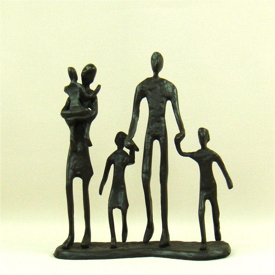 Bronze Skulptur Große Detailliert Family Und Baby Handgefertigt Statue Dekor Bronze Antike Originale Vor 1945