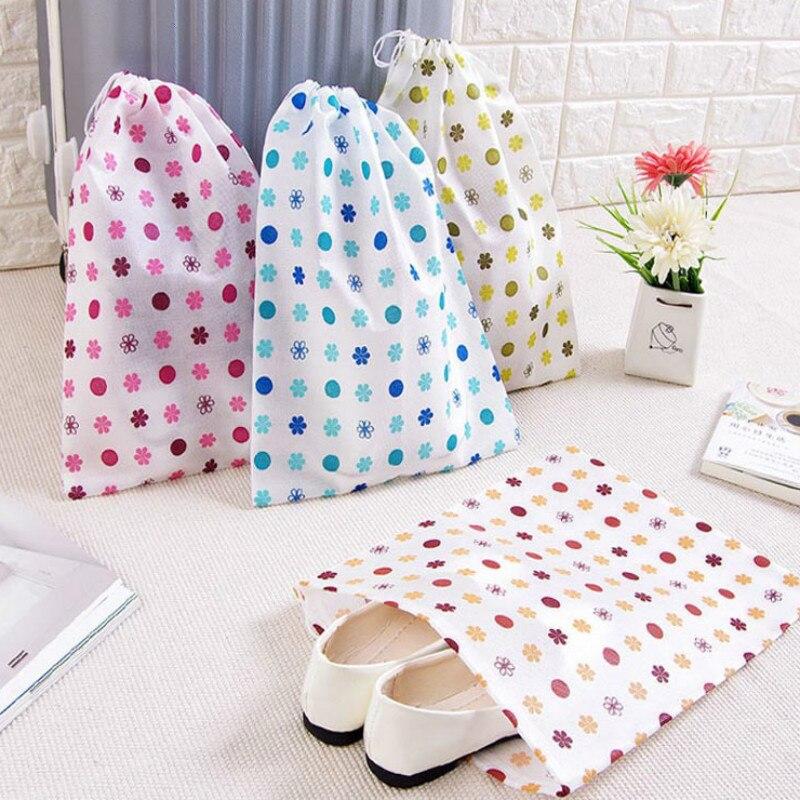 1 Pc Reise Zubehör Non Woven Schuh Tasche Kleinigkeiten Make-up Kosmetische Schuhe Wäsche Verpackung Organizaers