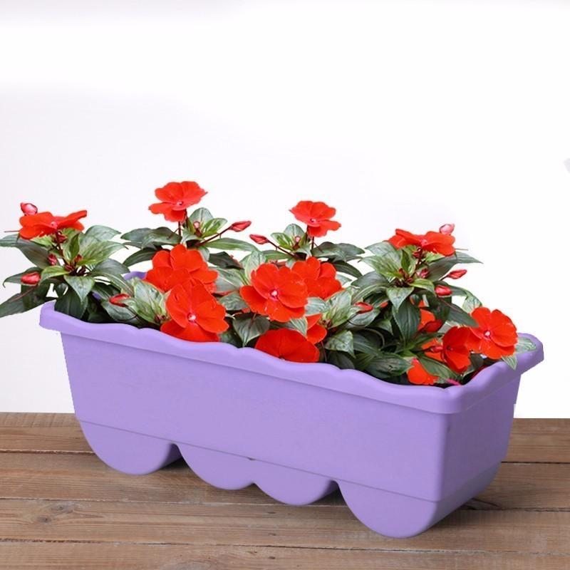Image 5 - Garden Flower Pot Decorative Plastic Succulent Vegetable Melon Fruit Planting Pot Crates Rectangle Table Flower Pot Gardening-in Flower Pots & Planters from Home & Garden