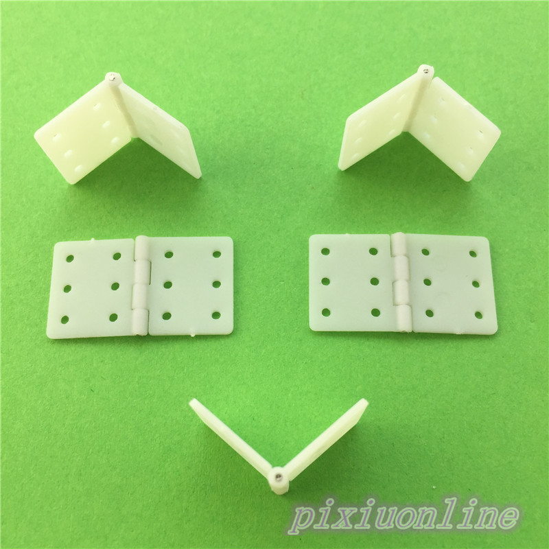 5pcs White Nylon Hinge with hole 15*18mm for DIY Model Airplane Make and Wooden Box Make High Quality On Sale e cap aluminum 16v 22 2200uf electrolytic capacitors pack for diy project white 9 x 10 pcs