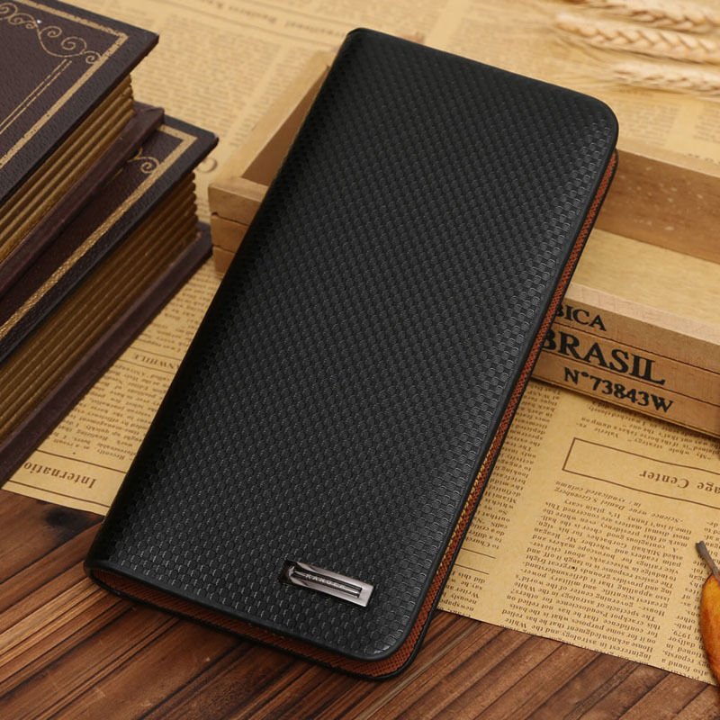 THINKTHENDO PU Casual Large Capacity Men Long Leather Pockets Purse ID Business Credit Card Clutch Bifold Zip Wallets W1696 240 cards large capacity pu leather business card holder card collection book 1493