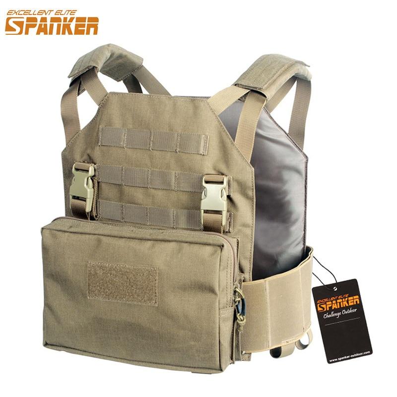 EXCELLENT ELITE SPANKER Outdoor Hunting Molle Nylon Module Vest + Tool Pouch Tactical Jungle Combat Camo Vests Set Accessories