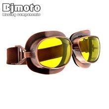 6ce132afb0152 BJMOTO Scooter Moto Óculos Óculos De Proteção Da Motocicleta Do Vintage  Ciclismo Óculos de Piloto Óculos