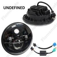 High Quality Black 7 Round 70W LED Super Bright Light Headlight Fog Lamp DRL For For