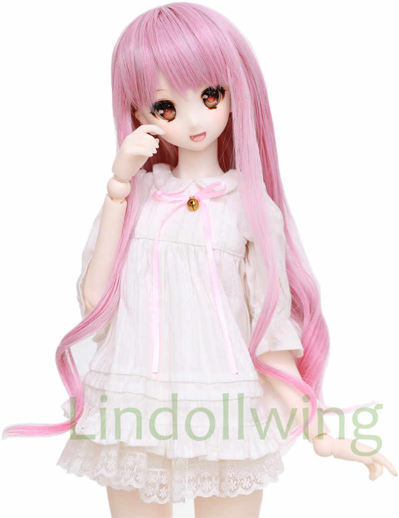 Bjd Wig 1 3 8-9  Dal Dod Doc Pullip SD LUTS supper Dollfie Doll wigs pink LS23