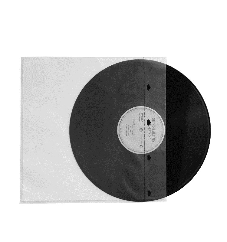 High Quality 20PCS HDPE+Rice Paper 3.5 Mil Anti-static Inner Sleeves For 12'' LP Vinyl Record