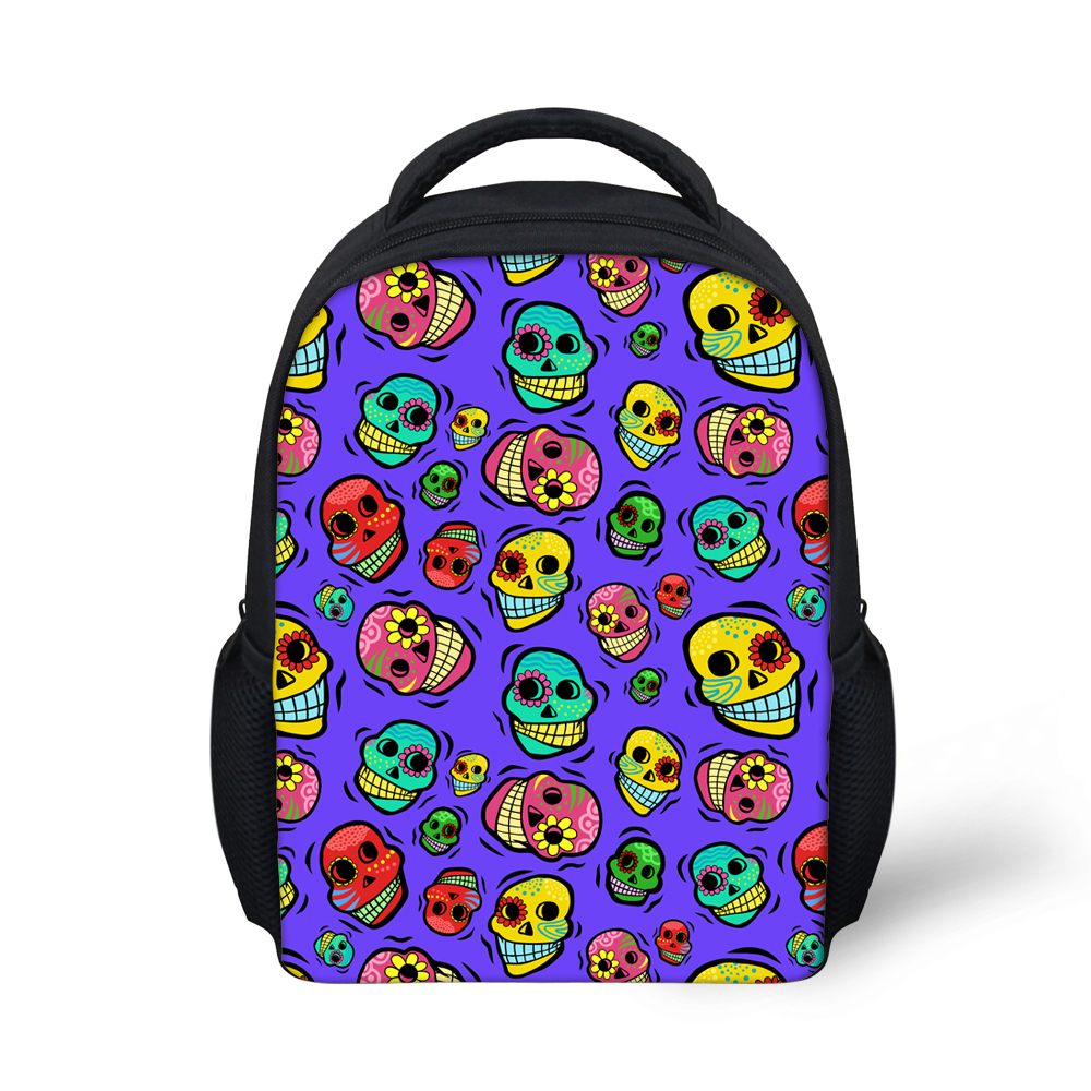 Small Children School Bags for Girls Boys Cool Skull Kindergarten Bookbags Cute Mochila Kids Schoolbag High Quality